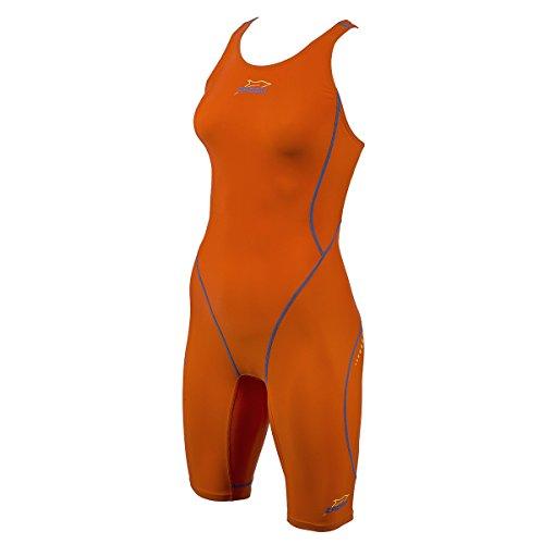 ZAOSU Wettkampf-Schwimmanzug Z-Orange für Damen & Mädchen, Größe:40