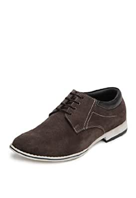 San Frissco Mens Lace-Up Loafers Brown Suede Leather Size-Uk 11