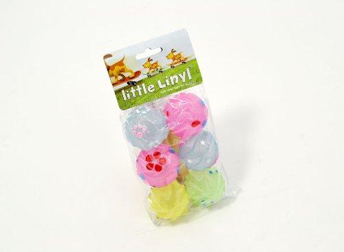 rosewood-jouet-en-vinyle-linyl-chiot-pastel-balles-lot-de-6