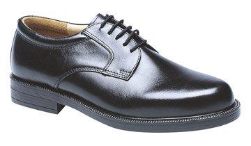 Mens Black Leather Fulfit Plain Gibson Shoe (M9)