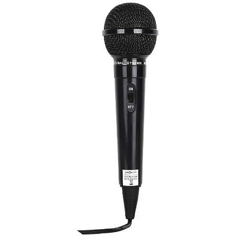 Microfono dinamico nero con canto cavo 1,5 metri incluso