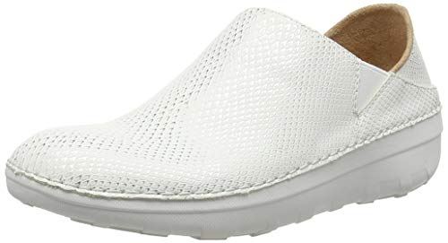 FitFlop Damen Super Loafer - Shimmy Snake Slipper, Weiß (Urban White 194), 37 EU -