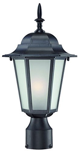 Acclaim 6117BK/FR Camelot Collection 1-Light Post Mount Outdoor Light Fixture, Matte Black by Acclaim - Matte Black Outdoor Post
