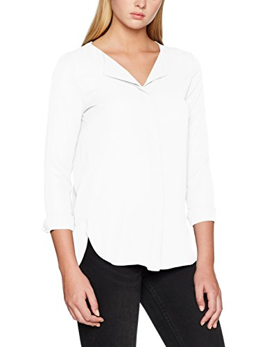 VILA CLOTHES Damen Bluse Vilucy L/S Shirt-Noos Weiß (Snow White Snow White)
