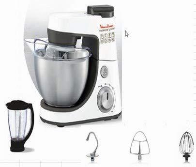 Moulinex - qa4081b1 - Robot multifonctions 4l 900w blanc masterchef gourmet