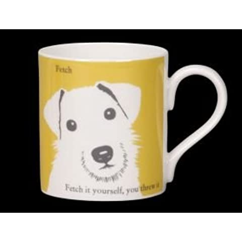 Ritratto, Cane Jack Russell Bone China Mug. Fetch.. Fetch it yourself Stoke-on-Trent (Inghilterra)
