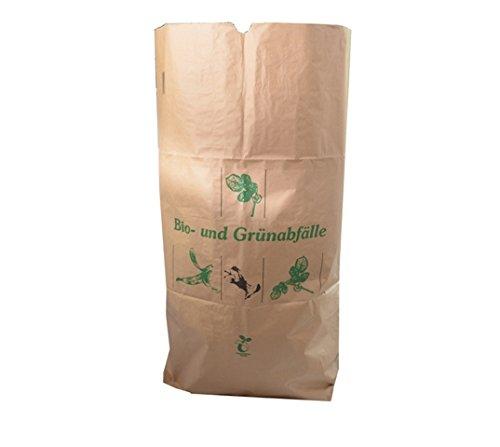 bioMat® Abfallsack aus Kraftpapier für Bio- & Grünabfälle ca  120 Liter 25  Stück/Bündel