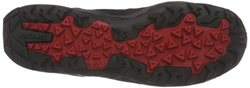 Viking Kuling Mid Gtx, Bottines de randonnée homme Noir - Schwarz (Antracite/Red 7710)