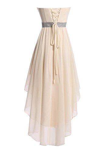 Fanciest Damen High Low Brautjungferkleider Kurz Wedding Party Kleider Champagne Lavender
