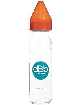 dBb Remond regulación del aire biberón con tetina NN de silicona bajo caja 240ml Naranja translúcido