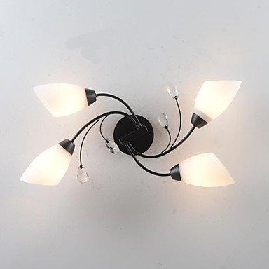4-Licht Unterputz Raumbeleuchtung Lackierte Oberflächen Metall Glas Sichtschutz, Ministil 220v / 110V Glühbirne Nicht inklusive / E26 / E27 - Glas 4 Licht Unterputz
