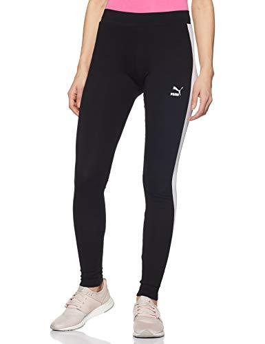 Puma Damen Classics Logo T7 Legging Sporthose, Cotton Black, S