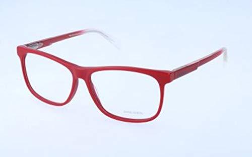 Diesel Unisex-Erwachsene DL5159 067-55-13-145 Brillengestelle, Rot, 55