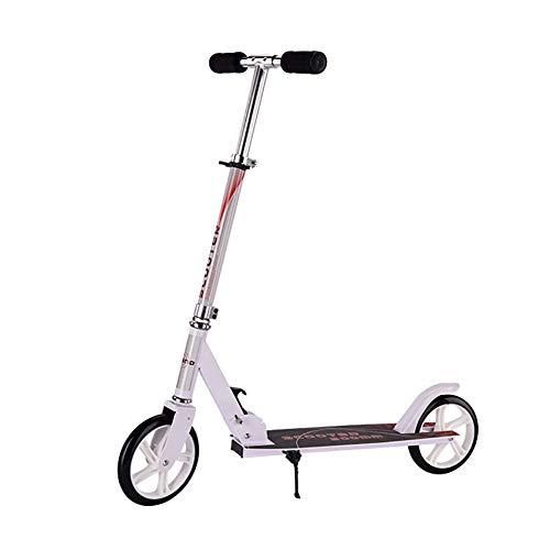 Unbekannt YXX-Scooter Weißer Stunt-Roller auf Rädern für Kinder ab 6 Jahren, faltbares Design, Bester Trick-Roller für Freestyle-Tricks