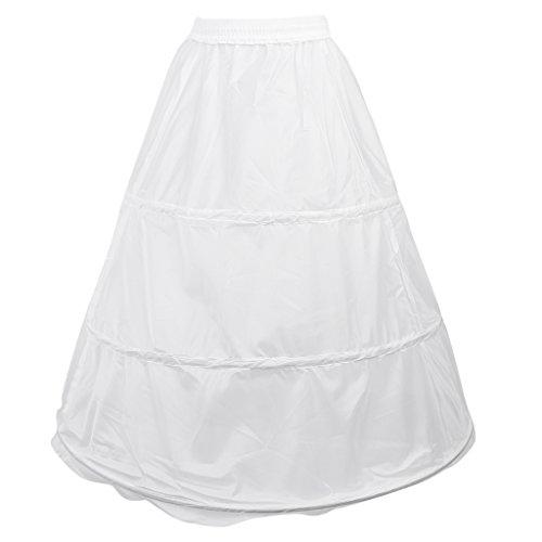 MagiDeal 3 Hoop Hochzeits Ballkleid mit Knochen Krinoline Petticoat
