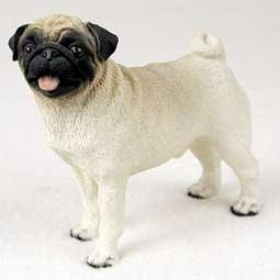 Pug, Brown Original Dog Figurine (4in-5in) by Conversation Concepts -