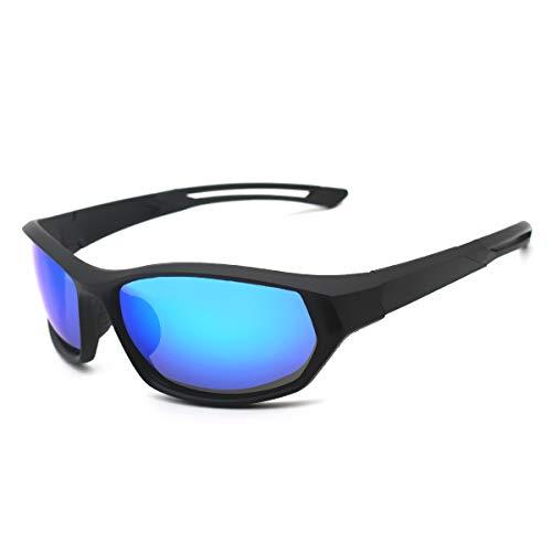LATEC Sport-Sonnenbrillen, Polarized Sport-Sonnenbrillen mit UV400-Schutz und unzerbrechlichem TR90-Rahmen für Männer, Frauen, Outdoor, Sport, Angeln, Skifahren, Golf, Radfahren, Camping
