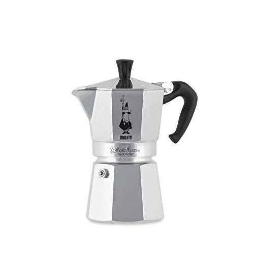 Bialetti moka express, caffettiera in alluminio da 4 tazze