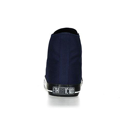 Ethletic Black Cap HiCut / High-Sneaker Collection 17 aus Bio-Baumwolle – dunkelblau / schwarz - 4