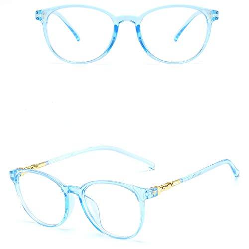 KostenloseLieferung Pwtchenty Glasses Men Sunglasses Fashion Luxury Women Men Sunglasses Frame Flacher Spiegel Für Männer Und Frauen Mit Universellem Rahmen (Blau)