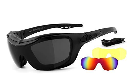 Helly® - No.1 Bikereyes® | beschlagfrei, winddicht, nachtsicht HLT® Kunststoff-Sicherheitsglas nach DIN EN 166 | Motorradbrille, Bikerbrille, Sportbrille, Nachtbrille