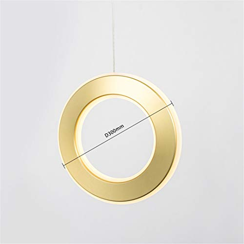nt Lamp 10-15Square Meters Dining Room Parlor Master Bedroom Soft Light Aluminum Plated Modern LED Bulbs B D300mm 5-10W ()
