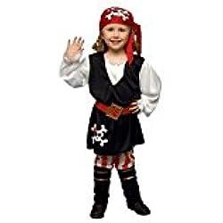 Disfraz de pirata para niña, incluye botas (3-4 años)