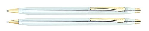 cross-medalist-ballpoint-pen-pencil-set5mmchrome-gold-barrel-sold-as-1-set-cro330105