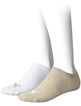 Puma 271325 - Calcetines infantil, color Multicolor (Beige/Blanco), talla 9-11.5, Pack de 2