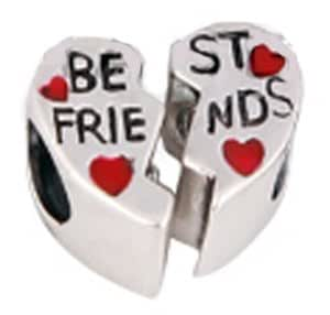 best friends forever bead sterling silber 925 emaille geeignet f r pandora chamilia charms. Black Bedroom Furniture Sets. Home Design Ideas