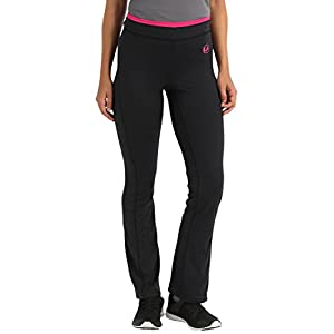 Ultrasport Advanced Damen Fitnesshose, Sporthose, lange Hose für Sport und Freizeit, hochelastisches, hautsympathisches Gewebe, atmungsaktiv und schnelltrocknend, justierbarerer Bund in Kontrastfarbe