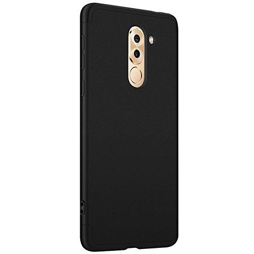 Coque Huawei Honor 6x étui ,Qissy® 3 en 1 Bumper Tout inclus Ultra Mince Spécialement Design 360 PC protective Hard case Cover Pour Huawei Honor 6x Smartphone Noir