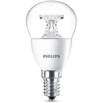 Philips Bombilla Gota Vela LED de luz cálida, 4 W/25 W, casquillo E14 Blanco 1 unidad