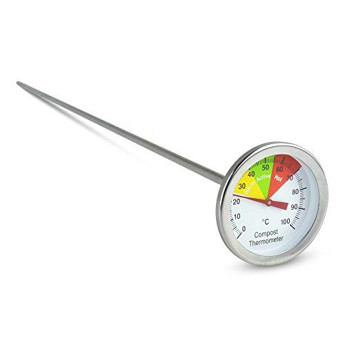 Edelstahl-Kompost-Thermometer mit 50-mm-Anzeige (Edelstahl-kompost-thermometer)