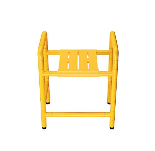 Preisvergleich Produktbild SJIAYSFS Handlauf-Hocker,  WC und Dusche-Hocker,  Edelstahl-Antibakterieller Nylon-Handlauf-Hocker,  für ältere behinderte Badstühle geeignet (Farbe : Gelb)