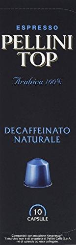 Pellini Caffè Top Decaffeinato Naturale (entkoffeiniert) - Nespresso kompatibel, 10 Kapseln, 4er Pack (4 x 50 g)