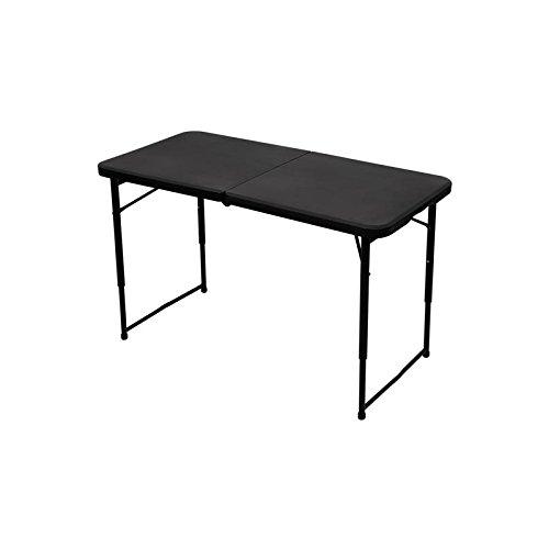 Toolland Klapptisch Campingtisch Picknicktisch mit Einstellbarer Höhe, schwarz, 101.5 x 50.7 x 71.2 / 61.2 / 53.3 cm
