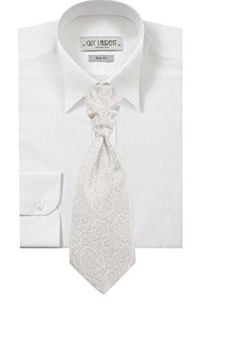 Shirt weißer Mann versteckte Knöpfe oder Elfenbein Elfenbein