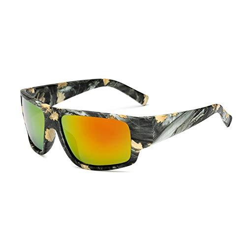 Polarisierte Angeln Sonnenbrille Gelb Rot Blau Linsen Nacht Version Männer Frauen Brillen Outdoor Sport Driving Eyewear UV400 (Color : B)