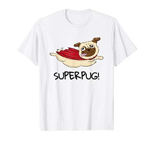 Mops T-SHIRT SUPERPUG Superheld Hund Mopsbesitzer