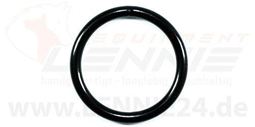 Rundringe aus Stahl / O-Ringe / schwarz / 7 Größen [32 mm] [10 Ringe] (Schwarz Ring Größe 10)
