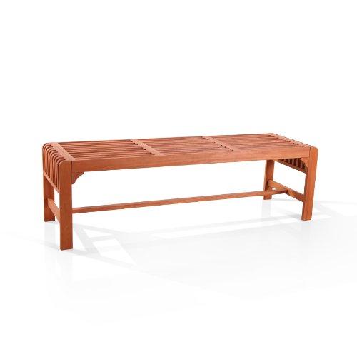 Vifah Picknickbank, Holz, rückenfrei -