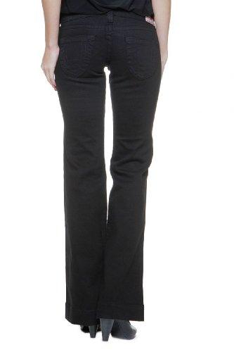 True Religion Damen Jeans Flare Leg Disco Candice W/Crys Wash BLACK02, Farbe: Schwarz, Größe: 26 (Disco-flare Jeans)