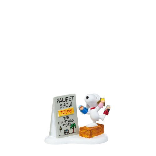 Department 56 Peanuts Village Snoopy's Christmas Decorative Accessory, 2.32-Inch by Department 56 (Christmas Village Peanuts)