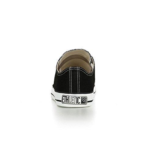 Ethletic Sneaker vegan LoCut – Farbe jet black / white aus Bio-Baumwolle – low Sneaker - 4