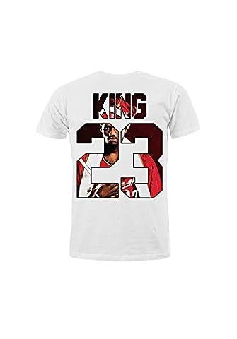 KING & QUEEN - T-shirt King 23- King Lebron James - Blanc - M