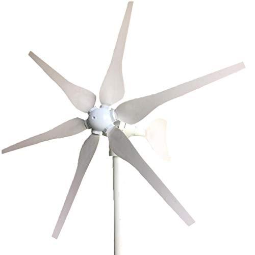 MXECO 400W 12V Generatore di luci stradali Monitoraggio a casa Piccola turbina eolica Motore Verticale a 6 Foglie con energia Solare