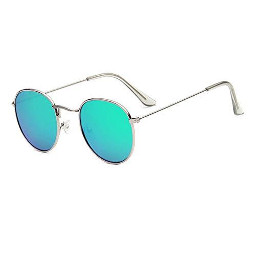 ZRTYJ Sonnenbrille Runde Frauen Vintage Metall Günstige Sonnenbrille Für Weibliche Hochwertige Retro Kleinen Kreis Brillen