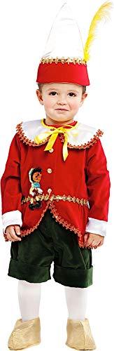 Carnevale Venizano CAV53177-1 - Kleinkindkostüm Piccolo BURATTINO DI Pinocchio LUSSO - Alter: 0-3 Jahre - Größe: - Pinocchio Kostüm Kind