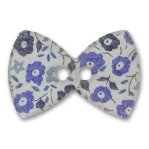 Bouton noeud papillon 38 mm Liberty Fairford Bleu x1